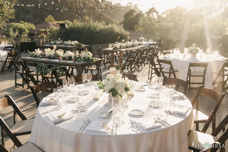 Wedding Reception Decor The Ranch Laguna Beach Weddings