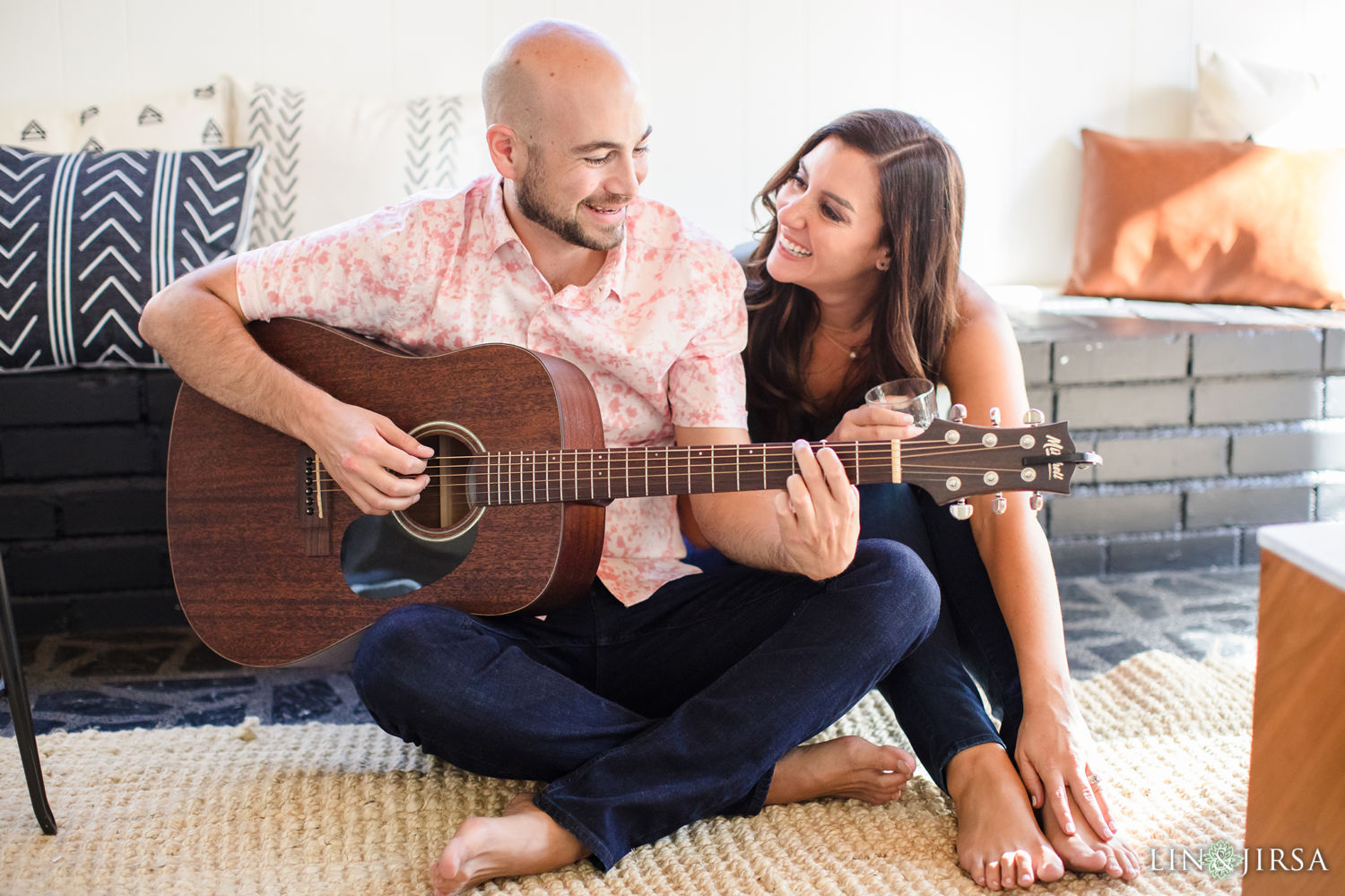 In Home 4 Marina Del Rey Engagement Session