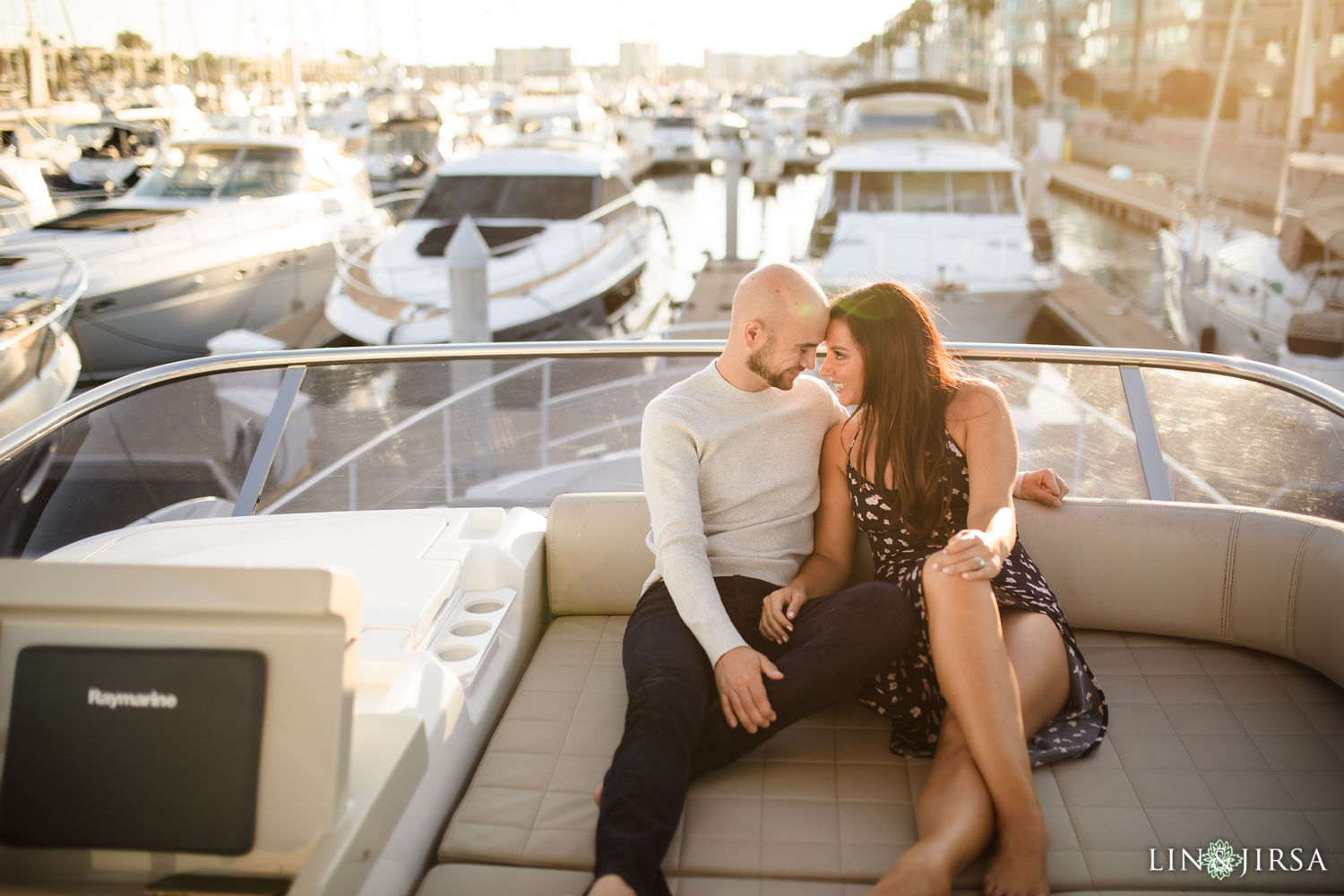 03 Marina Del Rey Private Boat Engagement Session