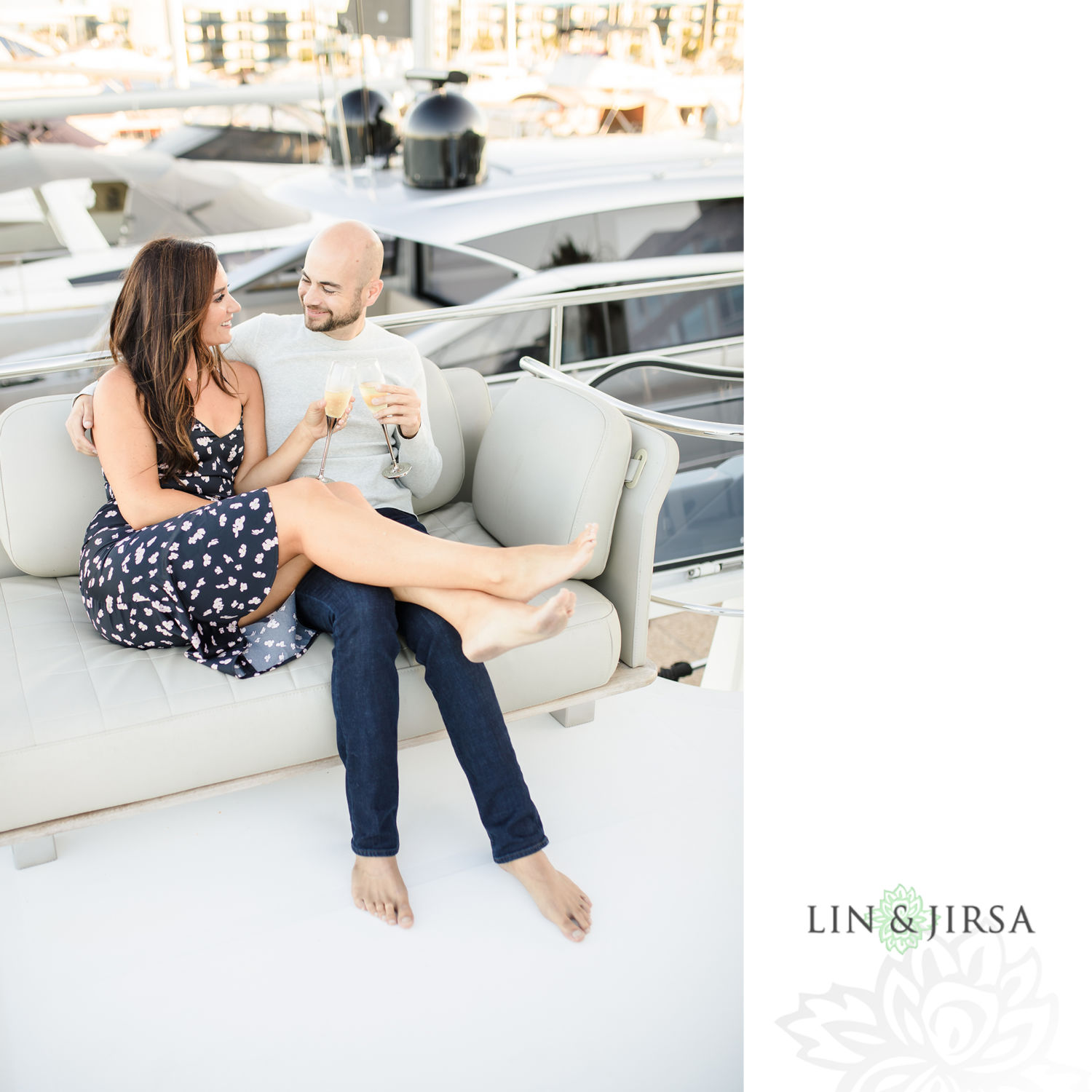 05 Marina Del Rey Private Boat Engagement Session