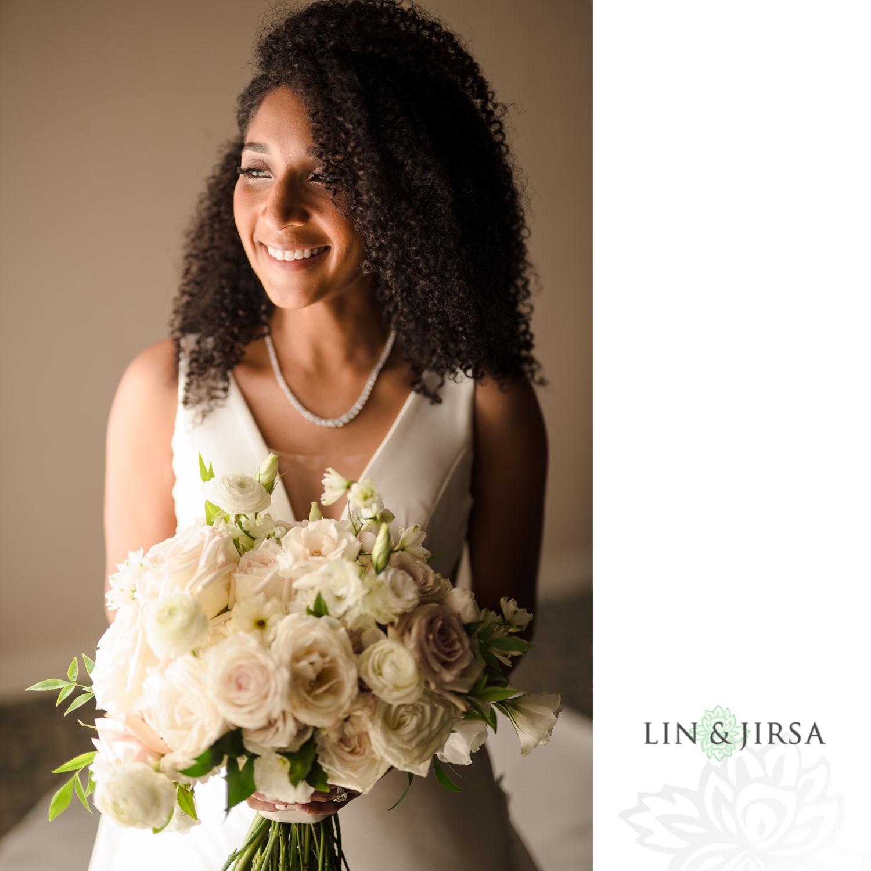 Bride Portrait Hilton Santa Barbara Beachfront Resort Wedding