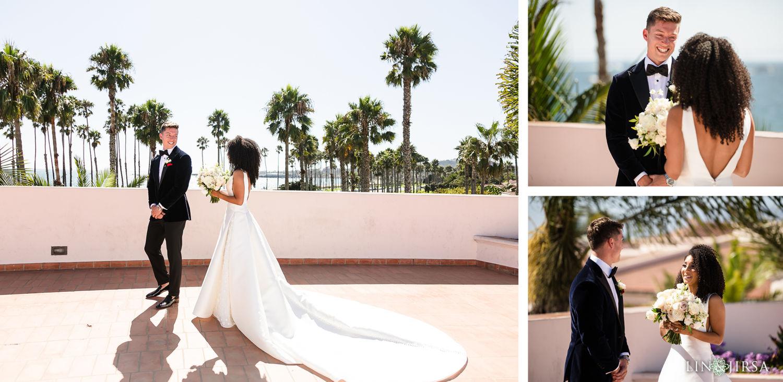 First Look Hilton Santa Barbara Beachfront Resort Wedding