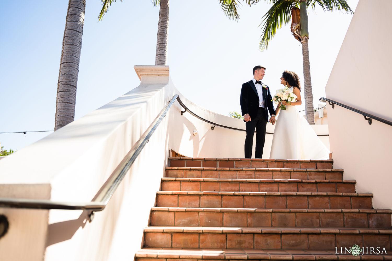 Couple Session First Look 02 Hilton Santa Barbara Beachfront Resort Wedding