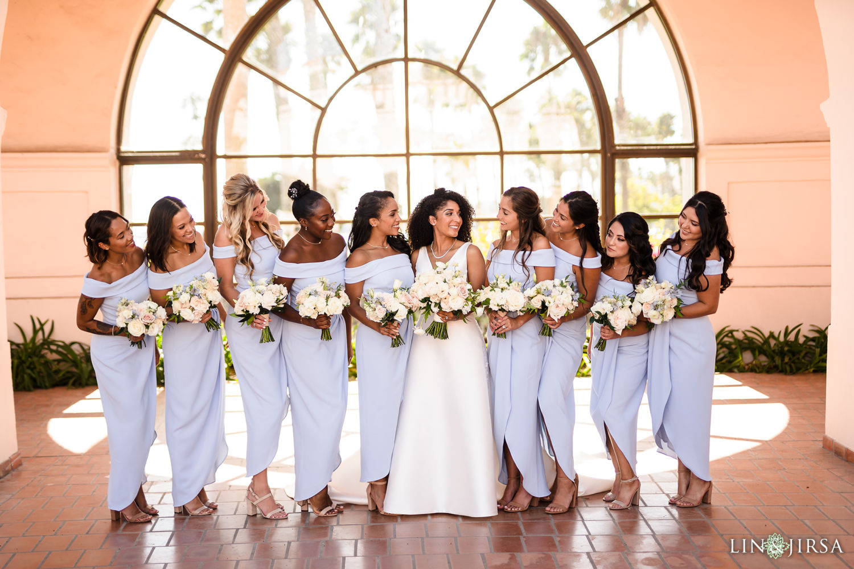Wedding Party Hilton Santa Barbara Beachfront Resort Wedding