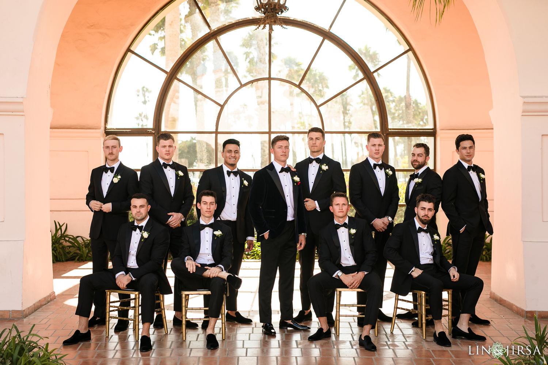 Groomsmen Hilton Santa Barbara Beachfront Resort Wedding