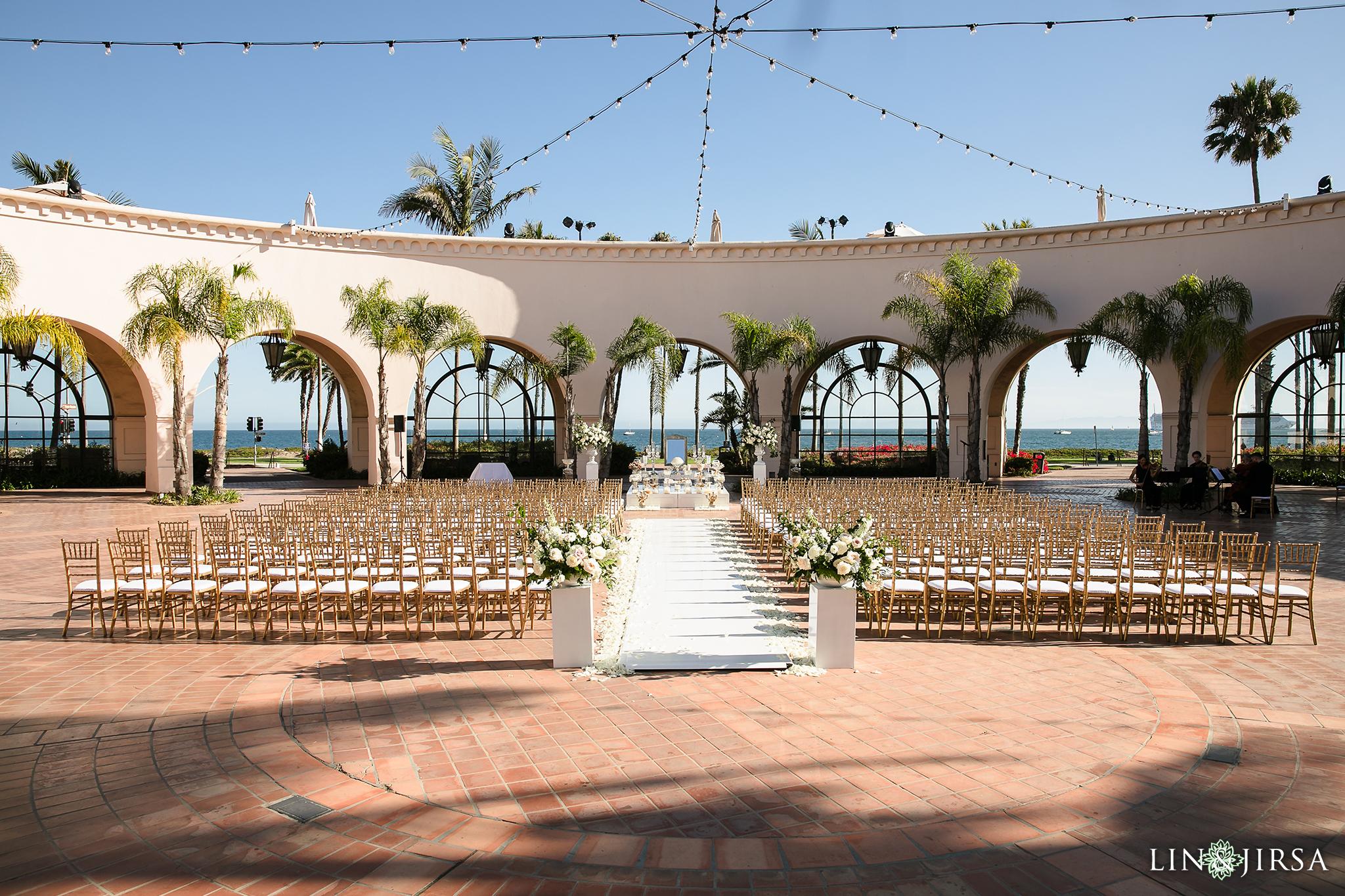 02 Wedding Ceremony Sofreh Aghd Hilton Santa Barbara Beachfront Resort Wedding