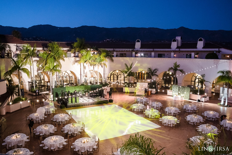 Outdoor Reception Hilton Santa Barbara Beachfront Resort Wedding