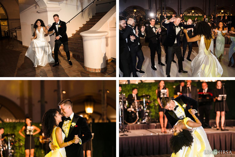 Grand Entrance First Dance Hilton Santa Barbara Beachfront Resort Wedding