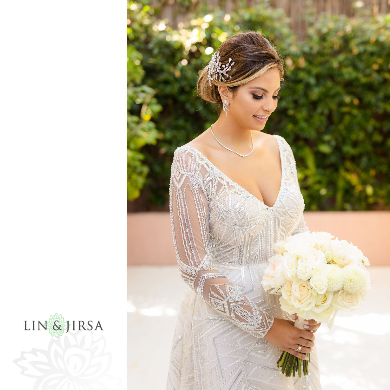 Bride Portraits Beverly Hills Hotel Lebanese Wedding