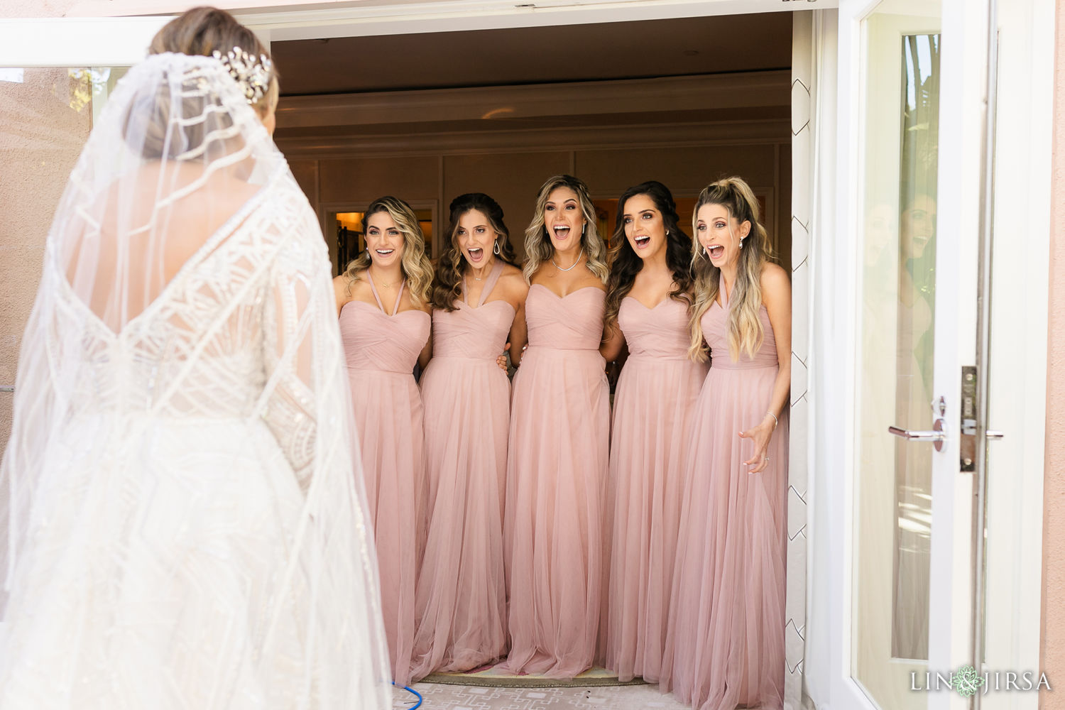 Bridesmaid First Look Beverly Hills Hotel Casamento libanês