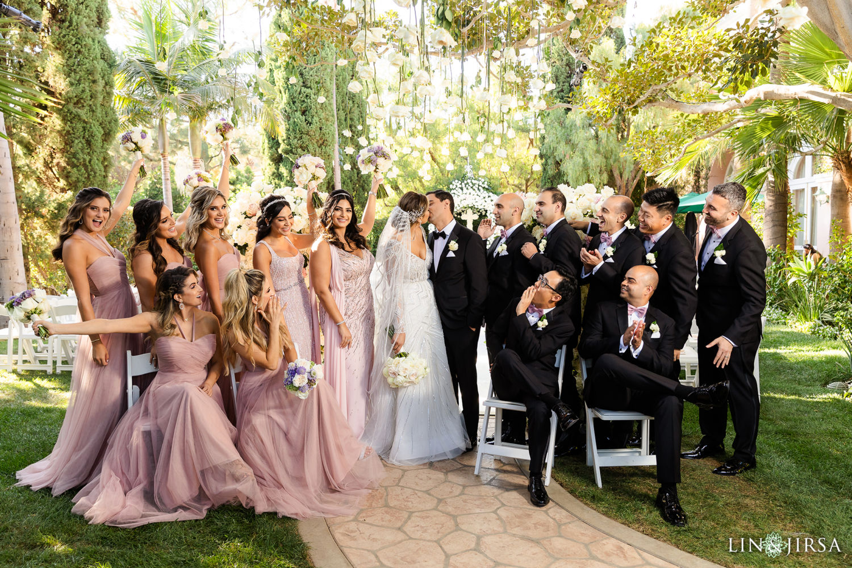 Beverly Hills Hotel Lebanese Wedding Bridal Party