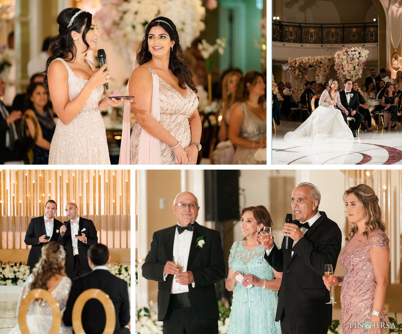Wedding Reception Beverly Hills Hotel Lebanese Wedding Speeches