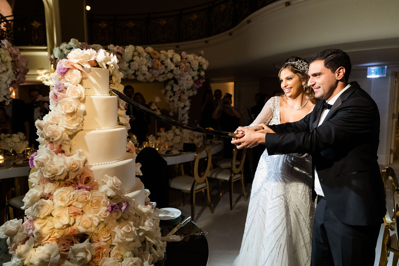 Wedding Reception Beverly Hills Hotel Lebanese Wedding Cake Cutting