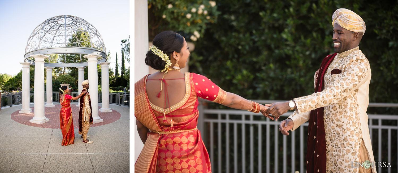 First Look Four Seasons Westlake Village Indian Wedding