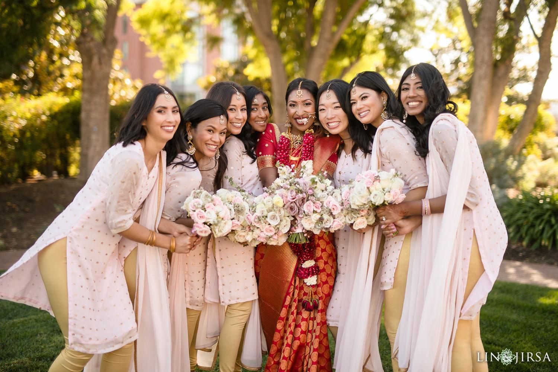 Bridal Party Four Seasons Westlake Village Indian Wedding
