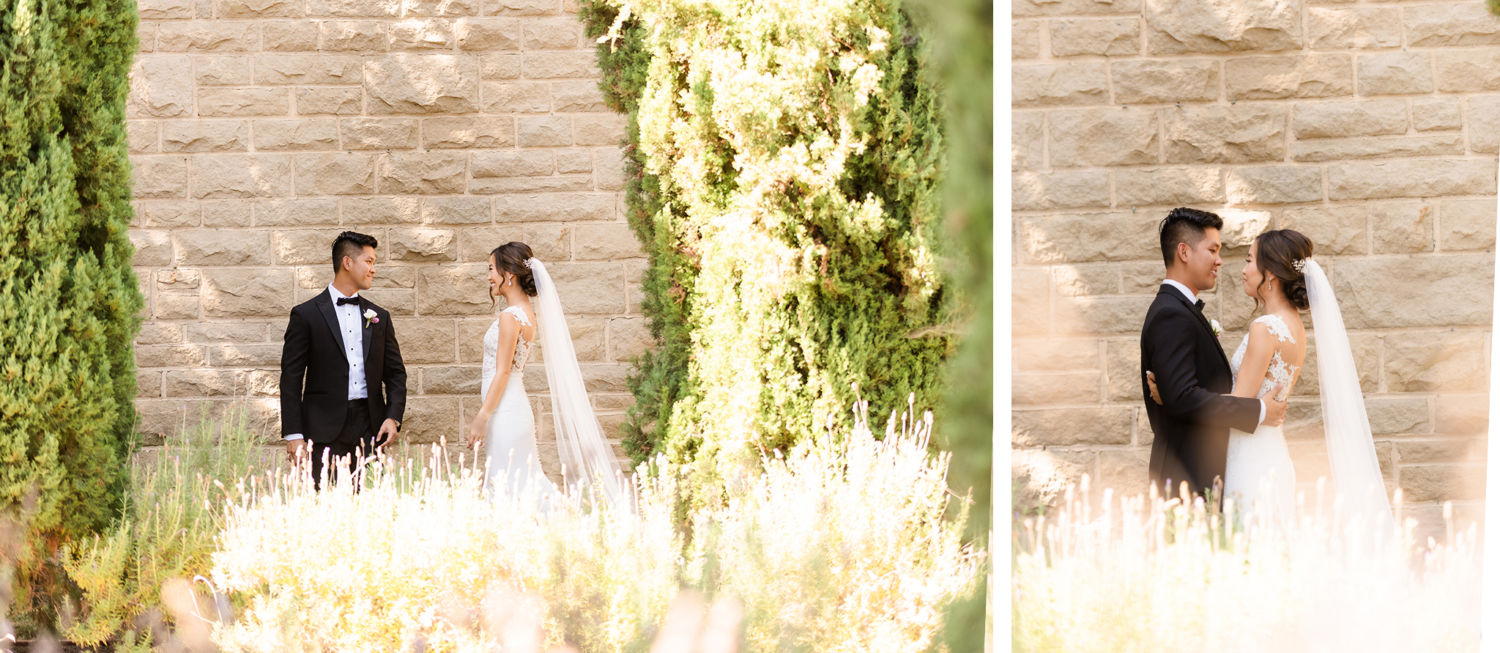 First look 02 Greystone Mansion Wedding
