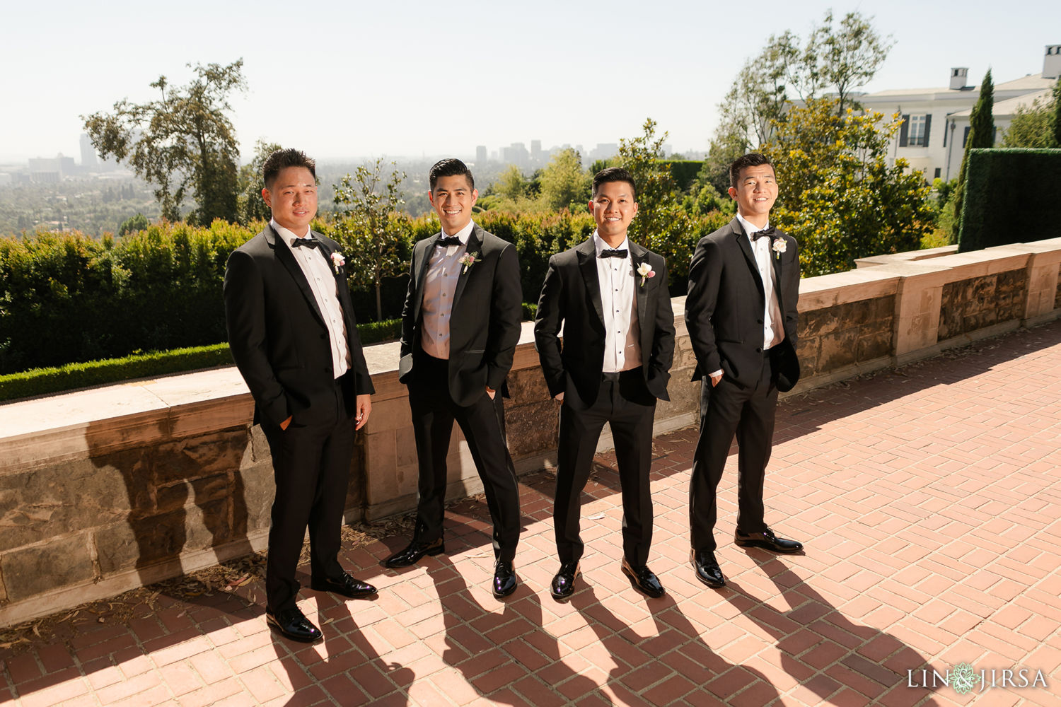 Groomsmen Greystone Mansion Wedding Beverly Hills