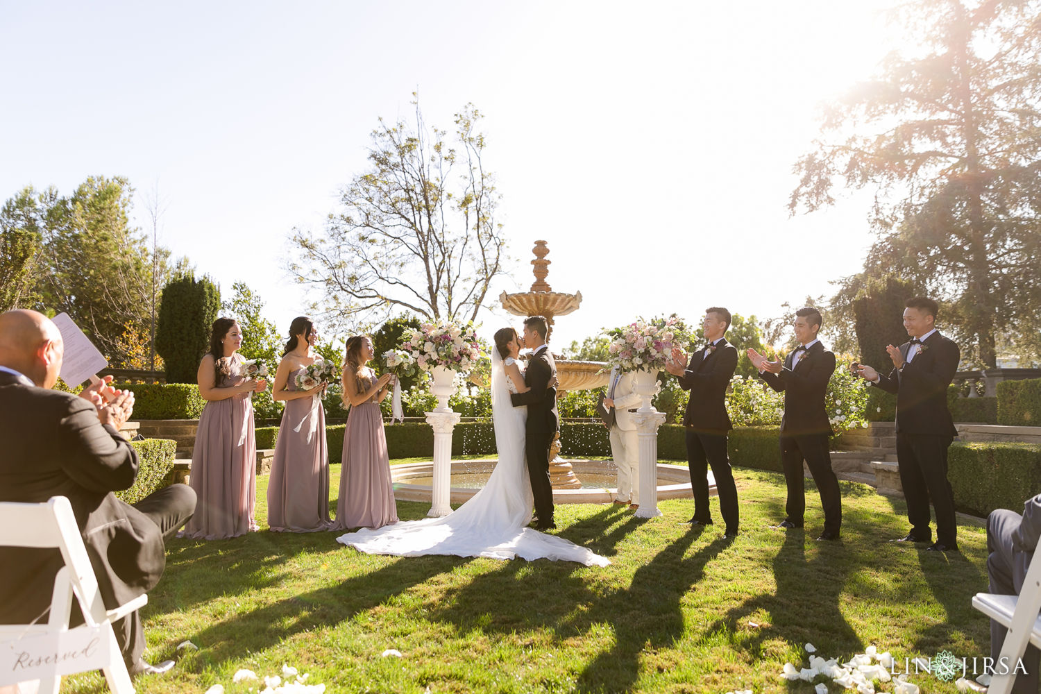 First Kiss Greystone Mansion Wedding Beverly Hills