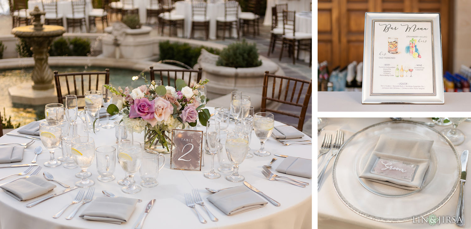 Reception Details Greystone Mansion Wedding Beverly Hills