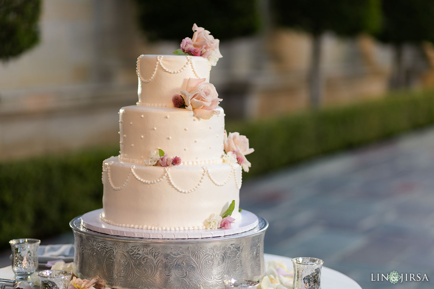 Wedding Cake Reception Details Greystone Mansion Wedding Beverly Hills