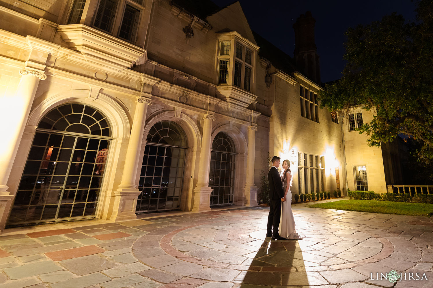 Nighttime Photography Greystone Mansion Wedding Beverly Hills Reception