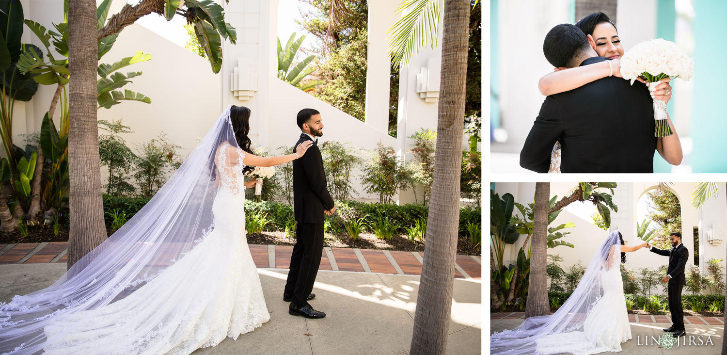 First Look Beverly Hills Courthouse St Mark Coptic Orthodox Church Wedding