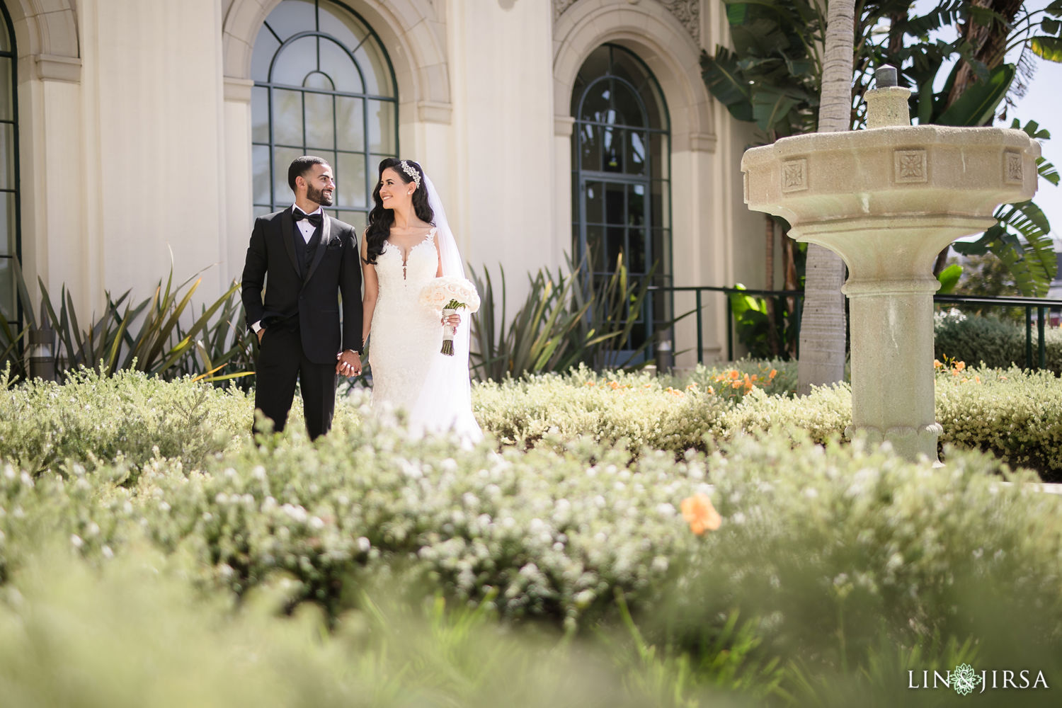 First Look 02 Beverly Hills Courthouse St Mark Coptic Orthodox Church Wedding