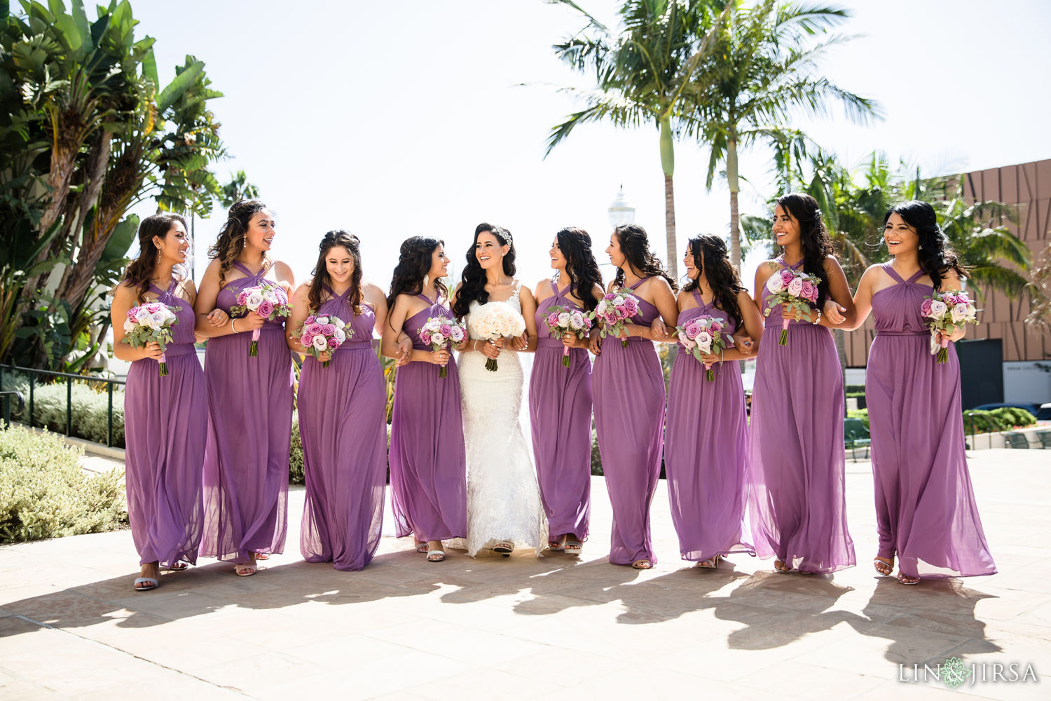 Bridesmaids Wedding Party Beverly Hills Courthouse St Mark Coptic Orthodox Church Wedding