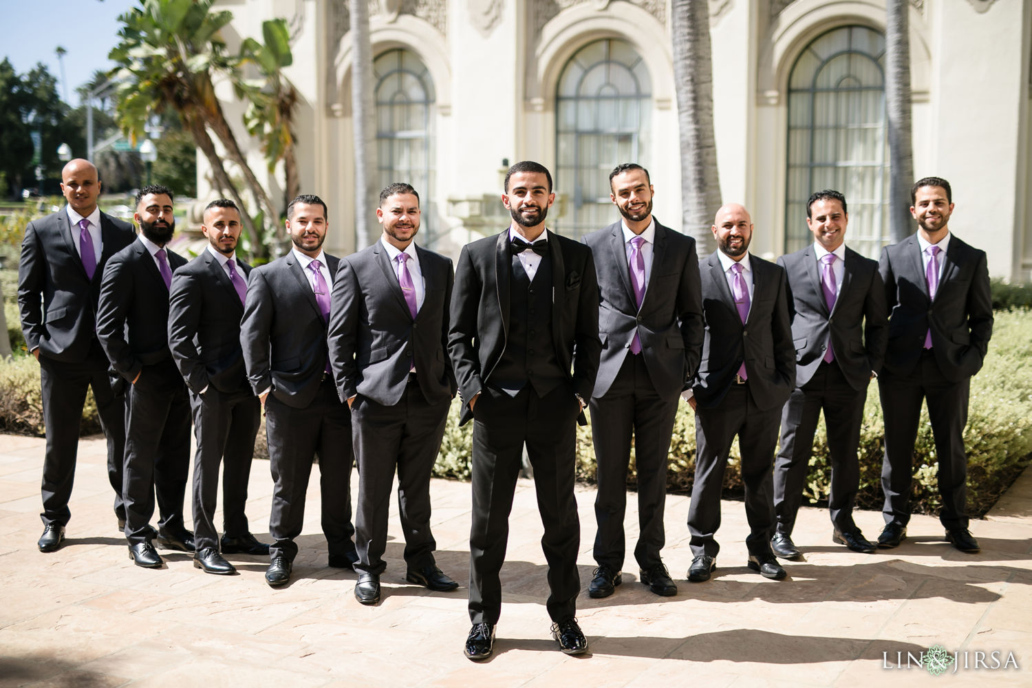 Groomsmen Wedding Party Beverly Hills Courthouse St Mark Coptic Orthodox Church Wedding