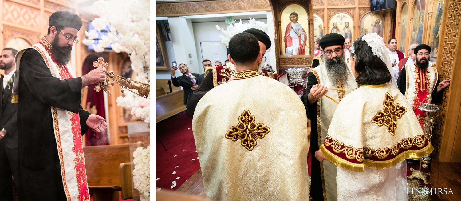 Egyptian Wedding Ceremony St Mark Coptic Orthodox Church Wedding
