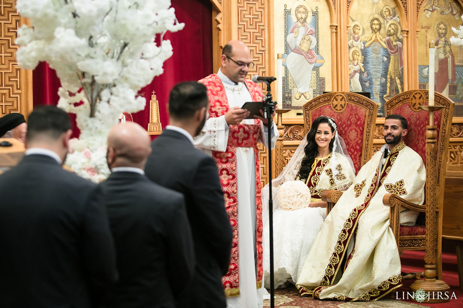 Egyptian Wedding Ceremony St Mark Coptic Orthodox Church Wedding 02