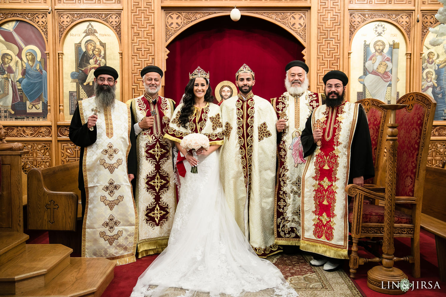 Egyptian Wedding Ceremony St Mark Coptic Orthodox Church Wedding 5