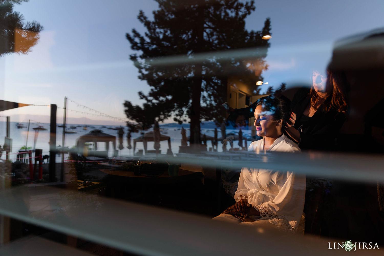 Bride Prep Hyatt Regency Lake Tahoe Resort Fusion Wedding