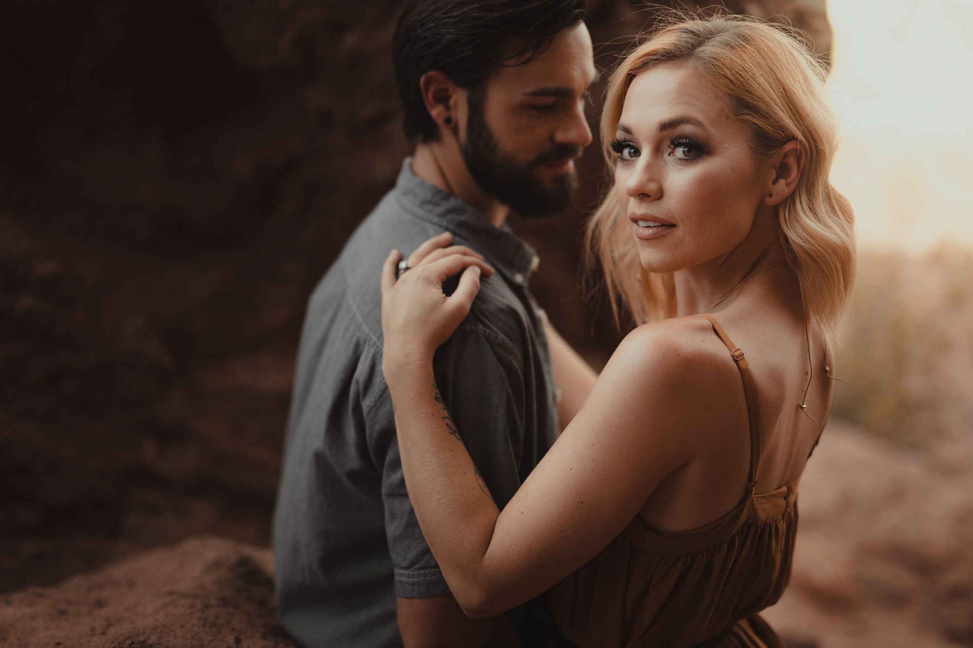 01 papago park arizona engagement photography