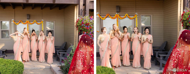 Bridesmaid First Look Hyatt Regency Lake Tahoe Resort Fusion Wedding
