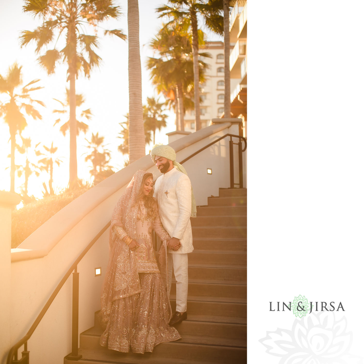 Couple Sunset Session Hyatt Huntington Beach Micro Wedding