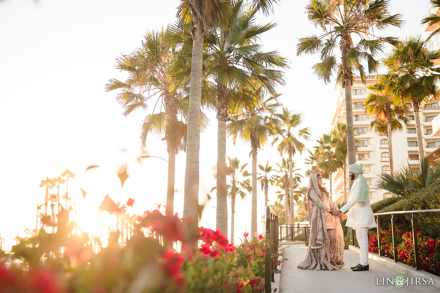 Couple Sunset Session Hyatt Huntington Beach Micro Wedding 03