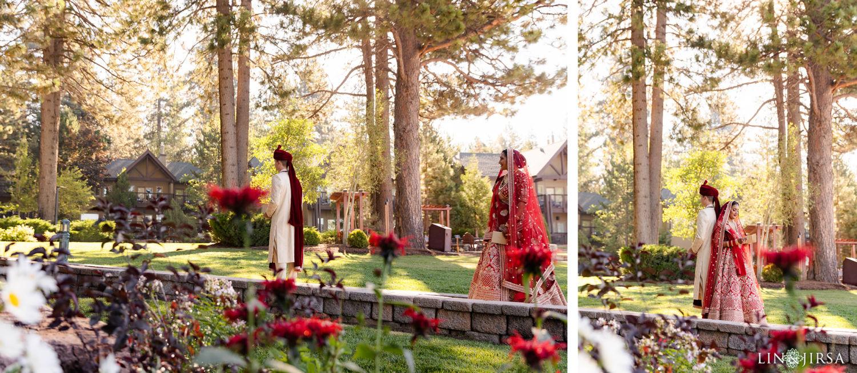First Look Hyatt Regency Lake Tahoe Resort Fusion Wedding