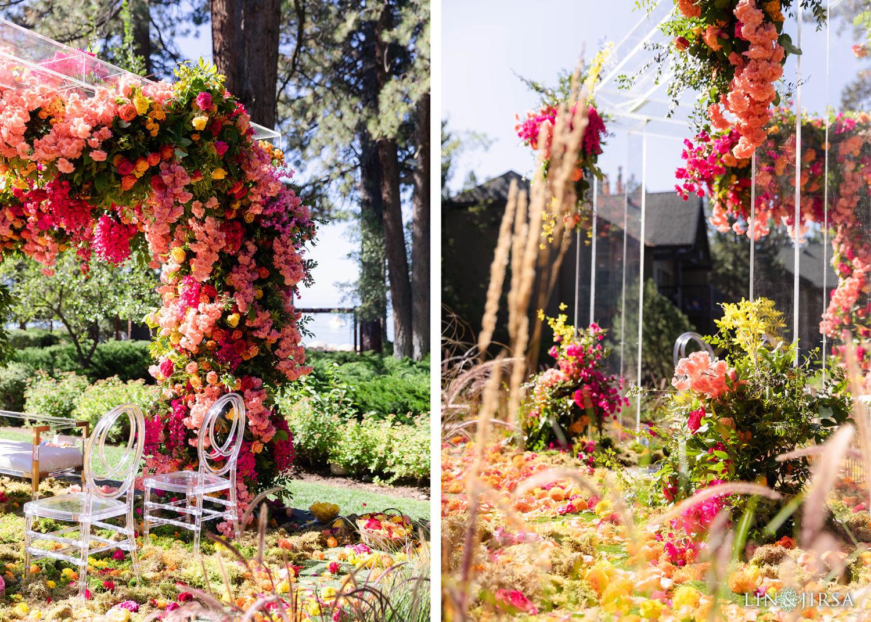 Wedding Ceremony Florals Hyatt Regency Lake Tahoe Resort Fusion Wedding
