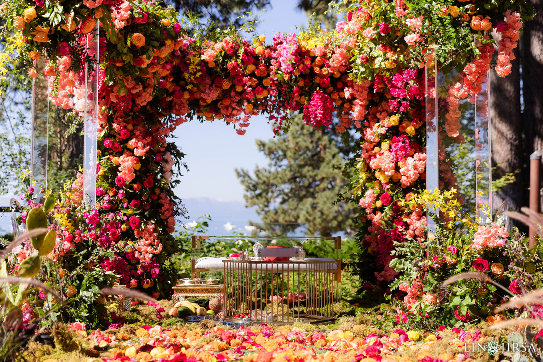 Mandap Hyatt Regency Lake Tahoe Resort Fusion Wedding
