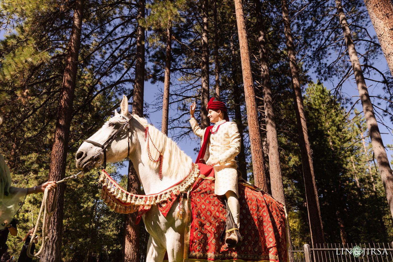 Baraat Hyatt Regency Lake Tahoe Resort Fusion Wedding