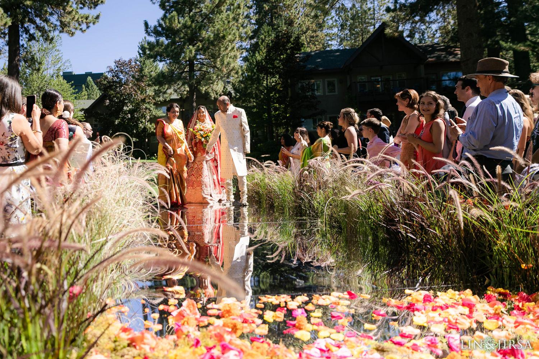 Wedding Ceremony Bride Entrance Hyatt Regency Lake Tahoe Resort Fusion Wedding