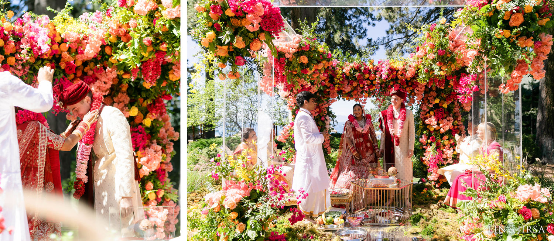 Hindu Ceremony Hyatt Regency Lake Tahoe Resort Fusion Wedding