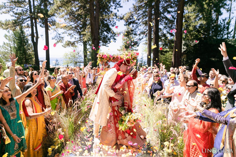 First Kiss Hyatt Regency Lake Tahoe Resort Fusion Wedding