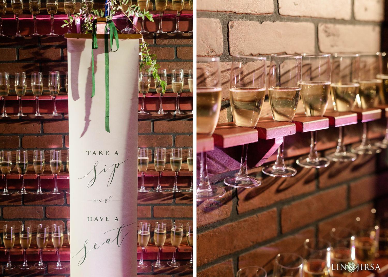 Champagne wall Wedding Reception Hyatt Regency Lake Tahoe Resort Fusion Wedding