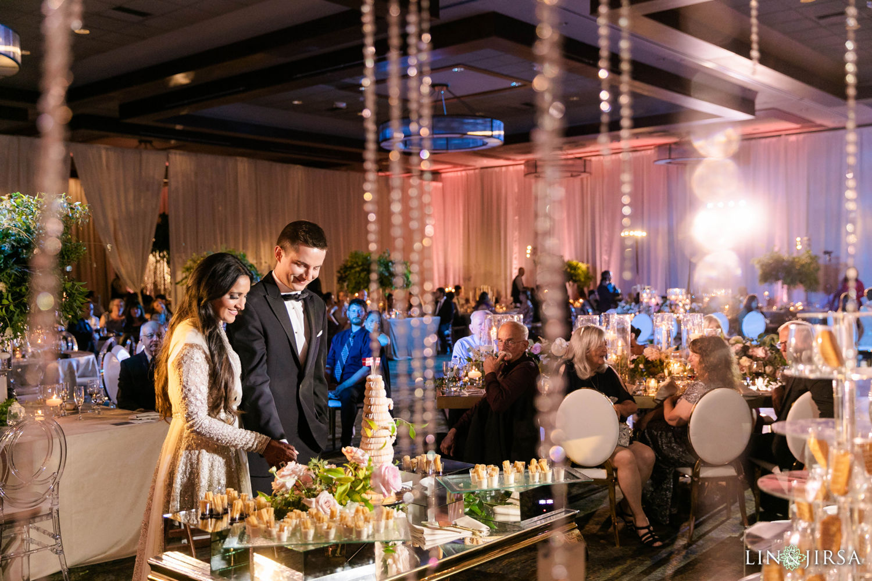 Cake Cutting Hyatt Regency Lake Tahoe Resort Fusion Wedding Reception