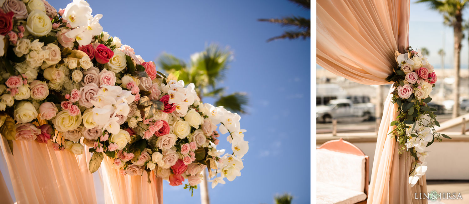 Wedding Ceremony Florals Pasea Huntington Beach SOUTH Indian Wedding