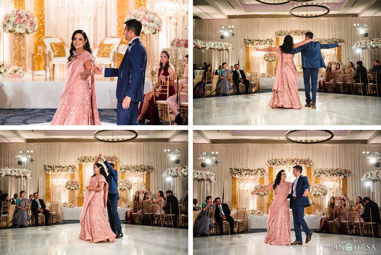 fIRST DANCE Wedding Reception Hilton Waterfront Huntington Beach Wedding