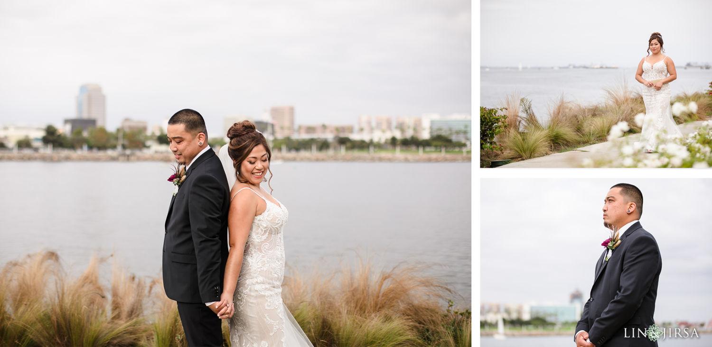 First Look Hotel Maya Long Beach Samantha and Kristoffer Micro Wedding