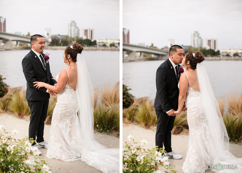 First Look 02 Hotel Maya Long Beach Samantha and Kristoffer Micro Wedding